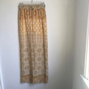 Sheer Yellow Wide Legs Pants with short lining